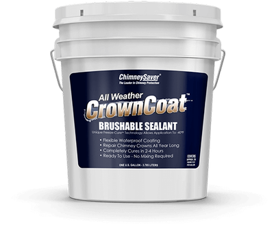 Waterproof chimney crown sealant